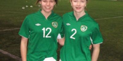 ede9e38c51591 Jade and Lynn make their debuts for the Irish International Soccer ...