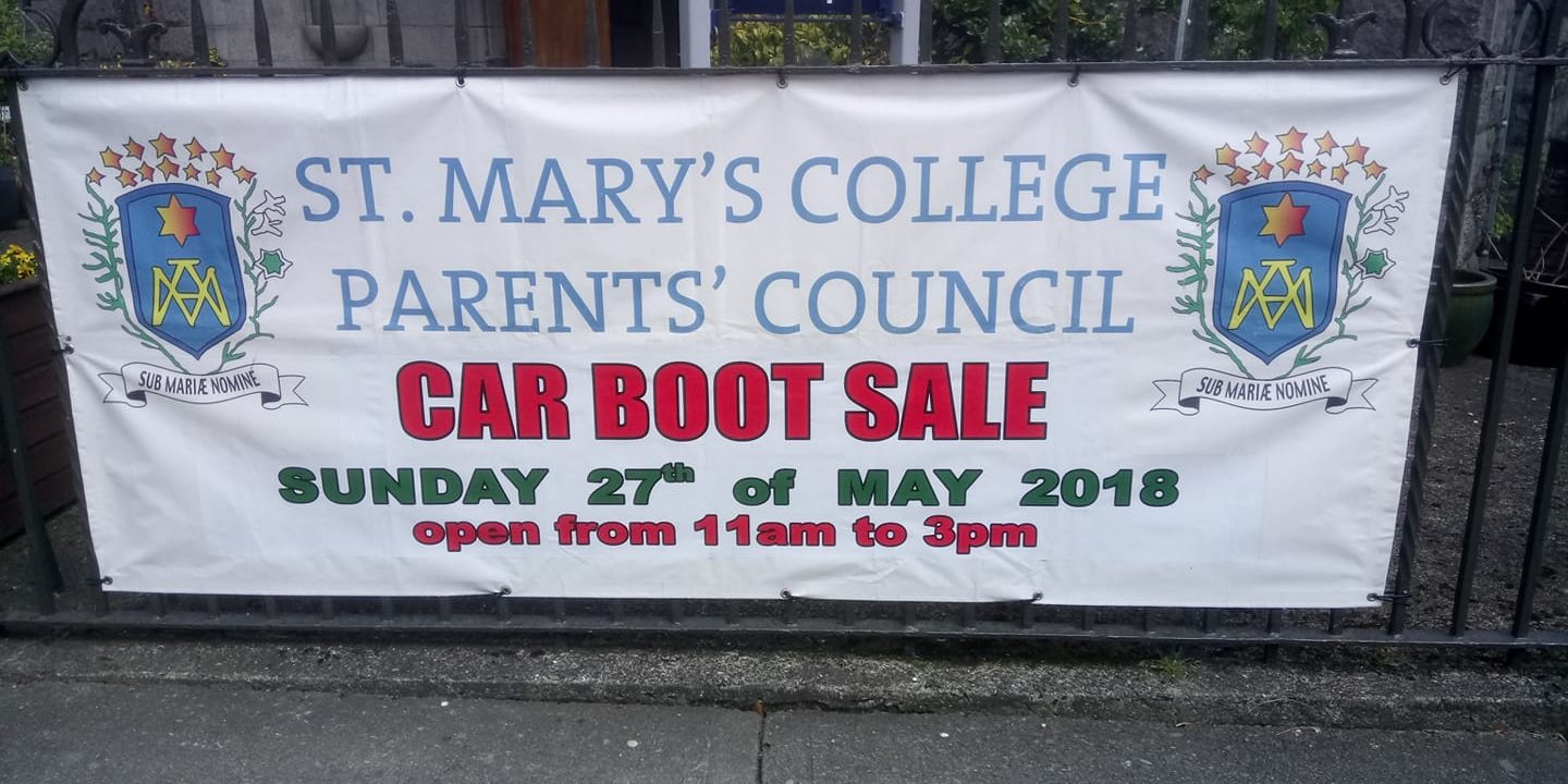 Car Boot Sale Sunday 27th May St Mary S College Dundalk