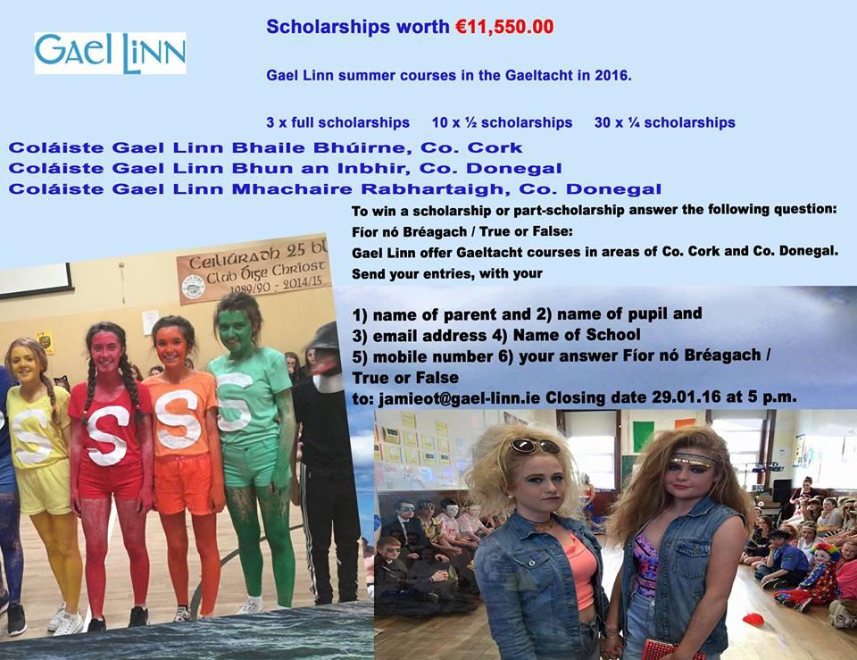 Gael Linn Scholarship Competition 2016